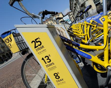 At our reception you can buy a card [TO] BIKE, the City of Turin service for bike sharing