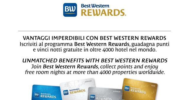 If you are a member of Best Western Rewards® when you stay at Best Western Hotel Crimea in Turin, you will have an instant discount of 5% on the best flexible rate with the same benefits, including breakfast and pay directly at the hotel.