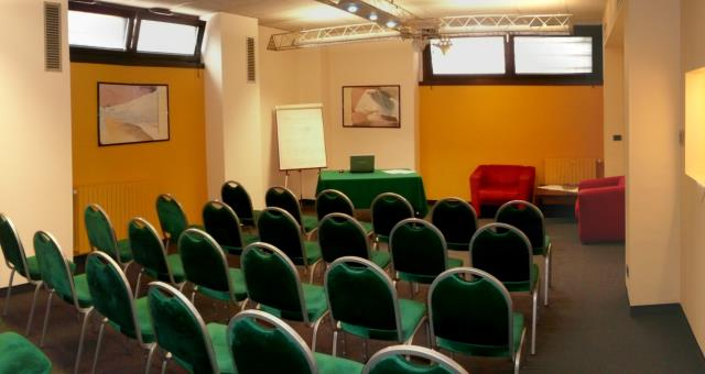 The meeting room offers a comfortable space for meetings and conferences for up to 30 people